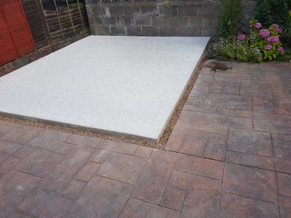 Concrete garage base