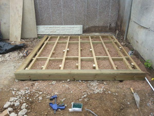 timber shed base