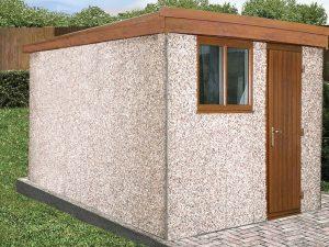 Pent sloping roof workshop