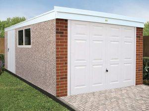 Pent garage PVC garage