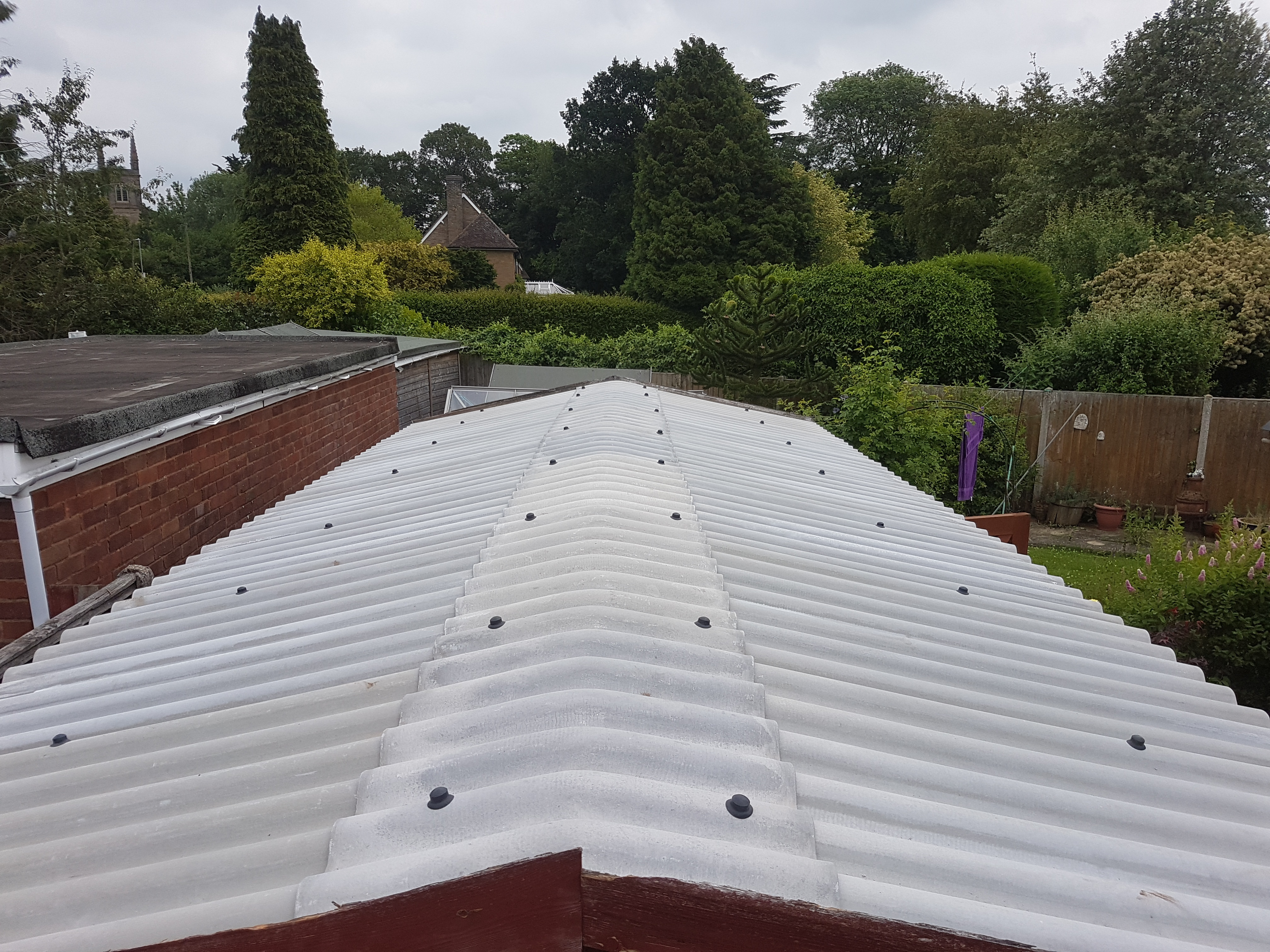 Corrugated Garage Roof Replacement Leicester Sectional Buildings