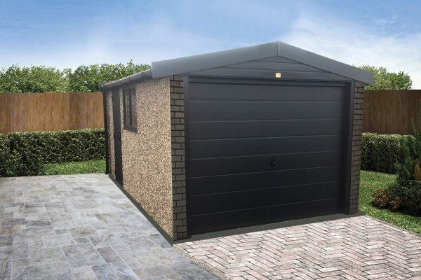 Grey garage