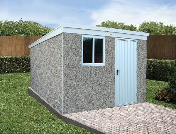 sloping roof shed