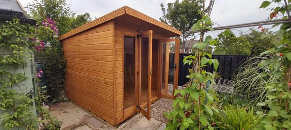 sloping roof summerhouse