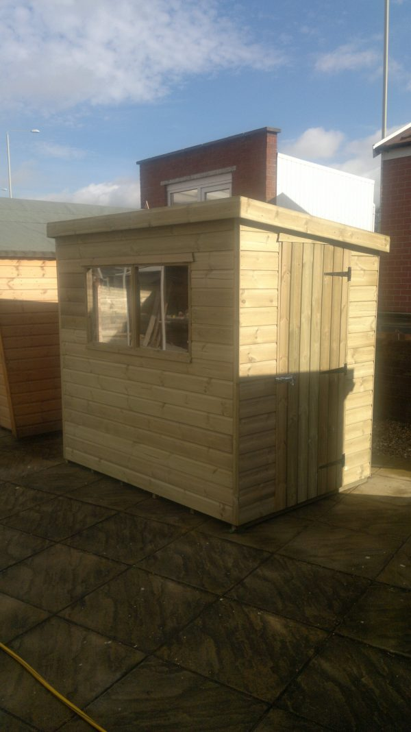 pent shed