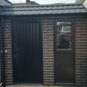 Mansard pent shed