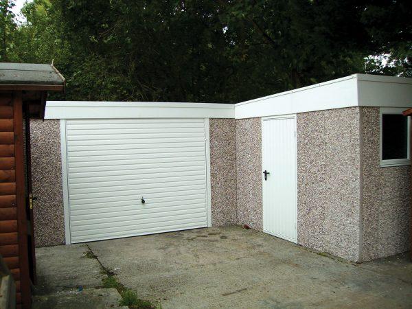 l shape garage